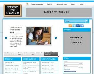 Banner posizionati nell'Homepage