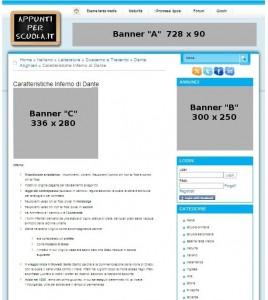 Banner posizionati nelle pagine interne